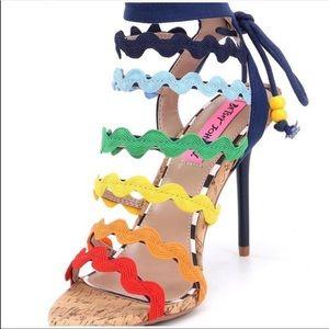 Betsy Johnson rainbow heels